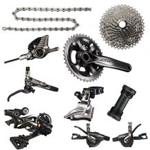 SHIMANO XTR M9000 GROUPSET - 2 X 11 SPEED - INC DISC BRAKES & ROTORS